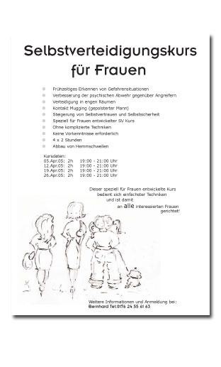 Selbstverteidigung (Flyer/Zeichnung)